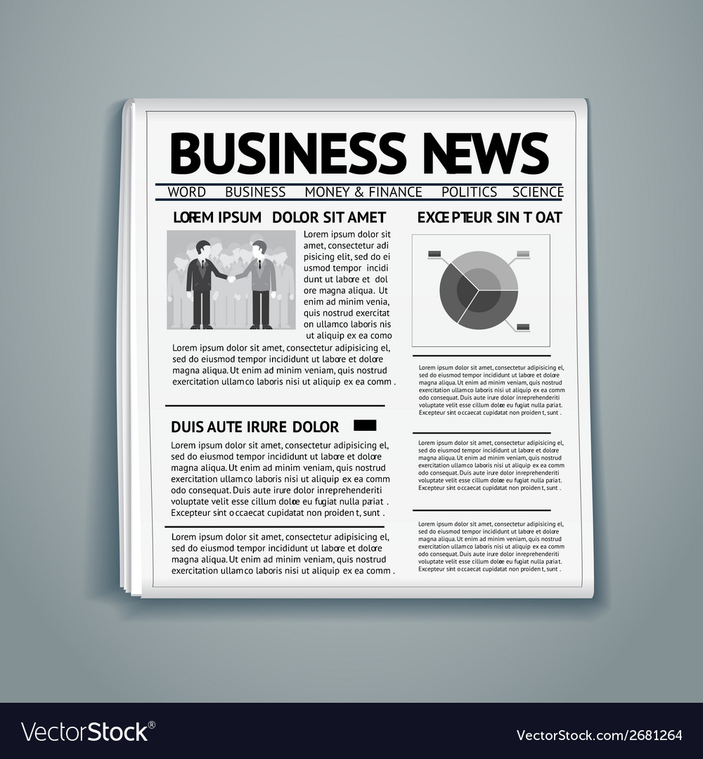 Business newspaper vector | Price: 1 Credit (USD $1)