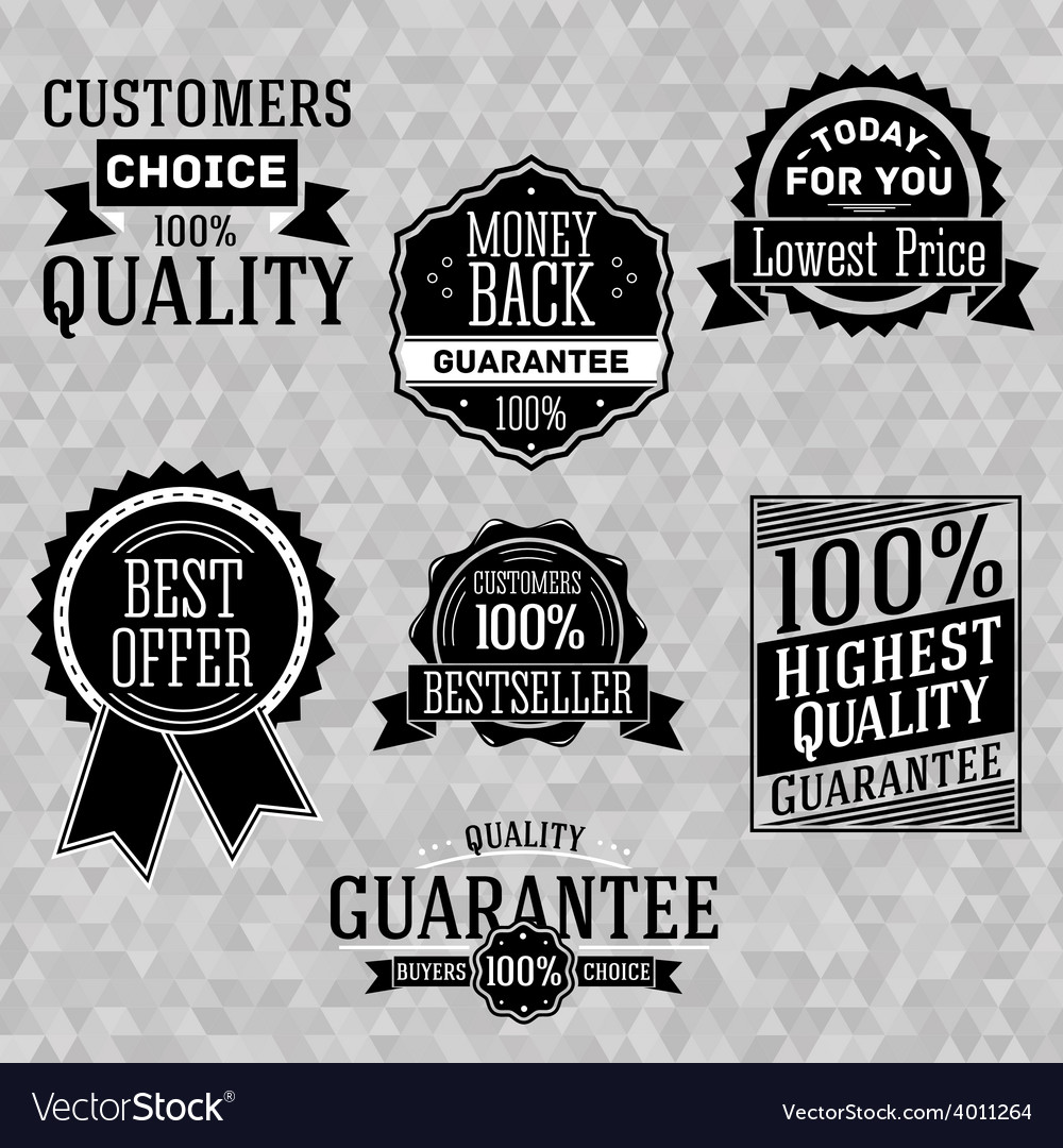 Collection of vintage business labels with popular vector | Price: 1 Credit (USD $1)