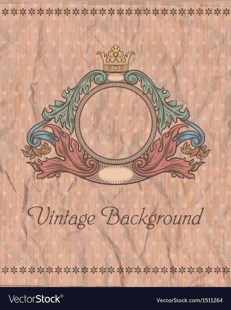 Emblem on the vintage background vector | Price: 3 Credit (USD $3)
