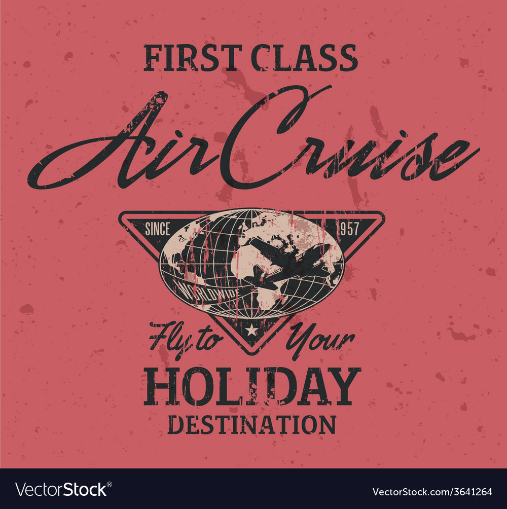 First class air cruise vector