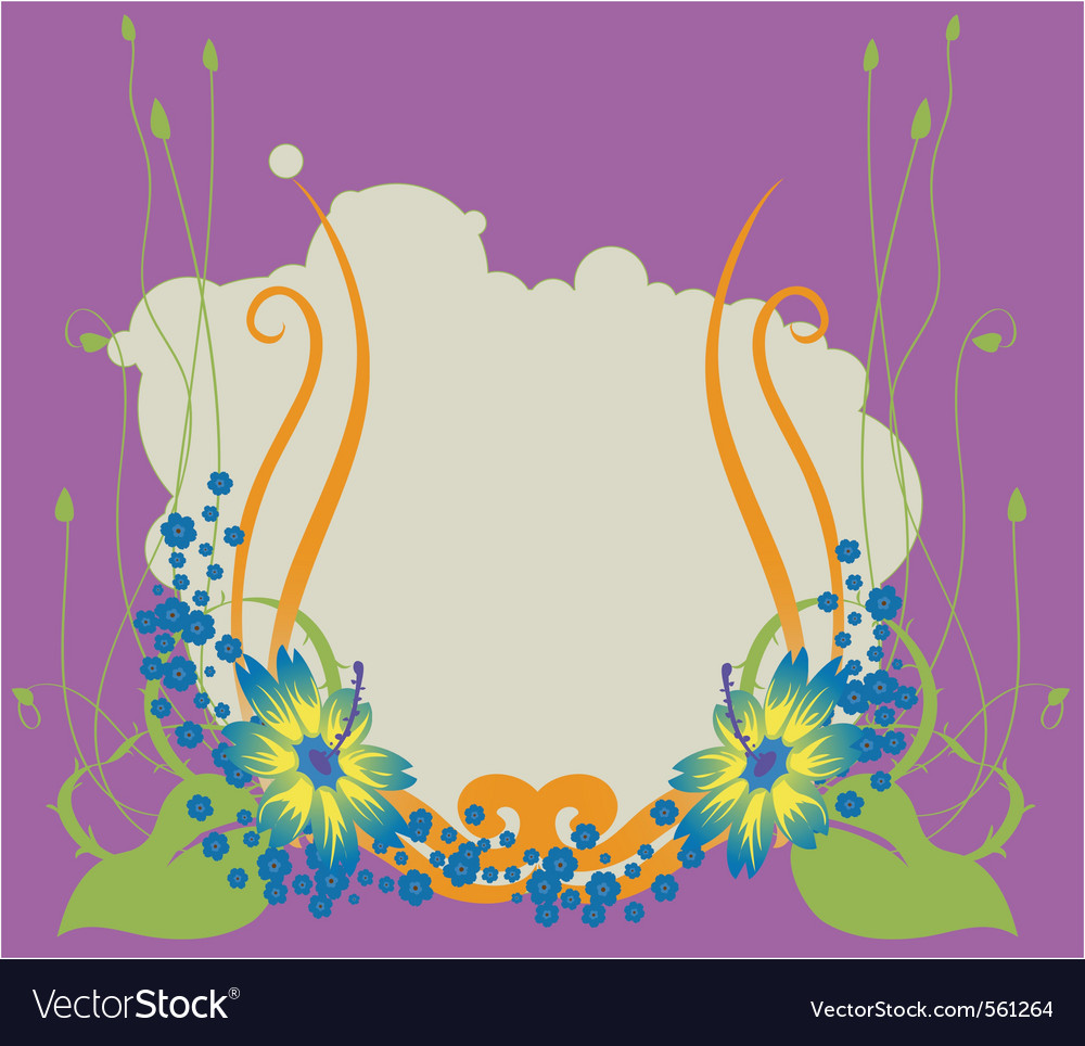 Floral swirl background vector | Price: 1 Credit (USD $1)
