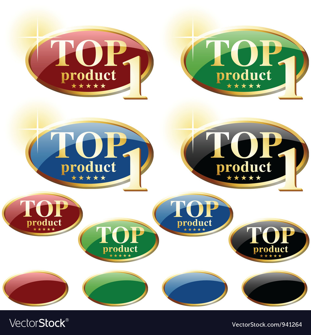 Glossy label top product vector | Price: 1 Credit (USD $1)
