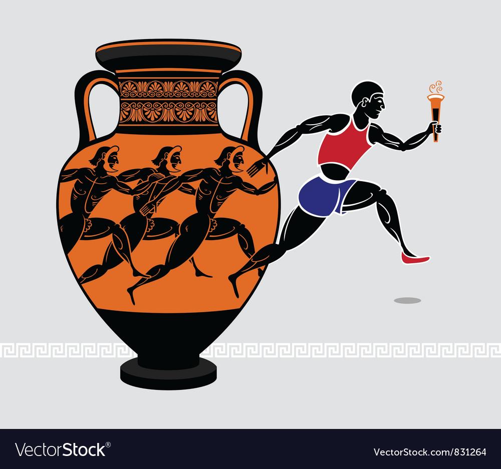 Greek runners vector | Price: 1 Credit (USD $1)
