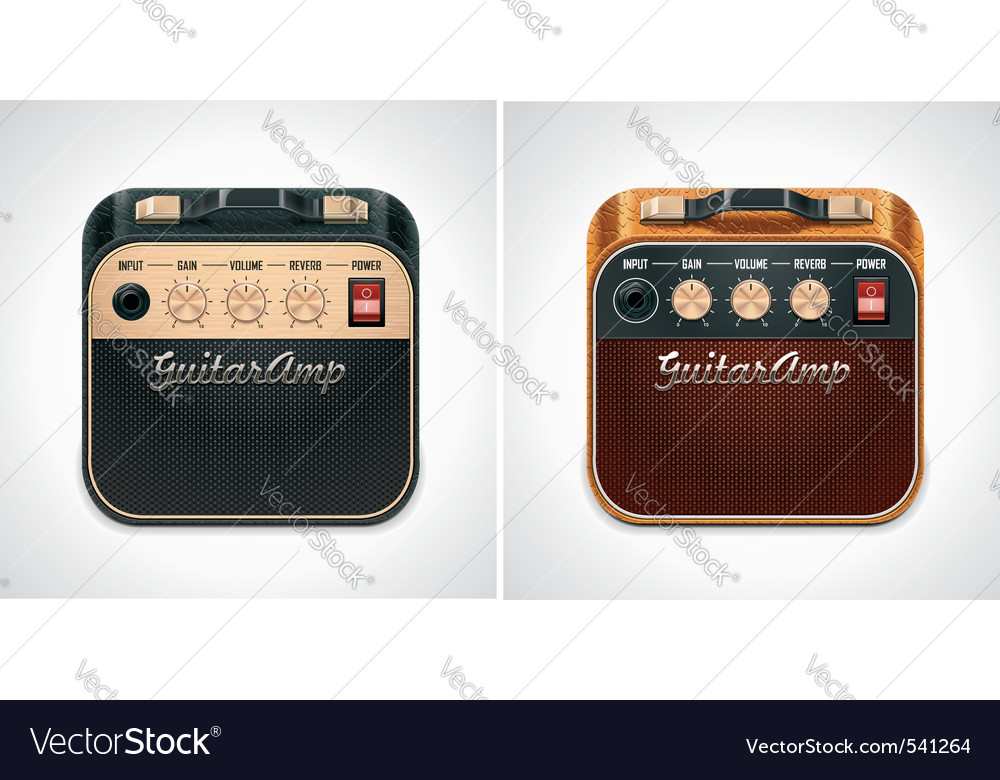 Guitar amplifier square icon vector | Price: 3 Credit (USD $3)