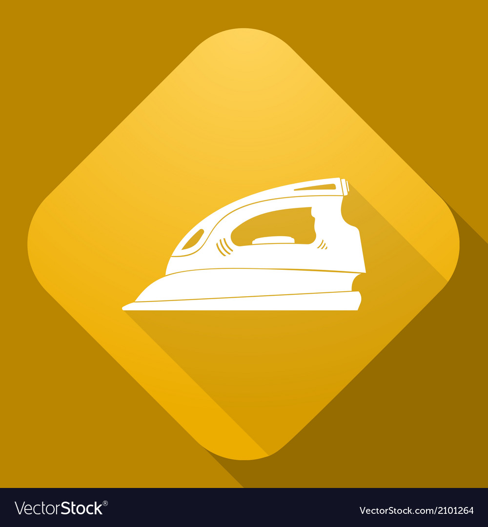 Icon of flatiron with a long shadow vector | Price: 1 Credit (USD $1)