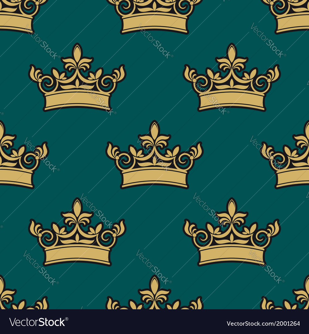 Seamless pattern of a golden crowns vector | Price: 1 Credit (USD $1)