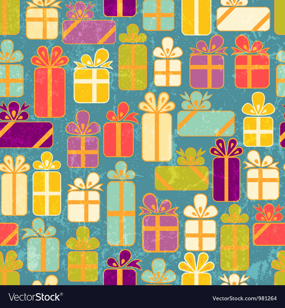 Seamless pattern with colorful gifts vector | Price: 1 Credit (USD $1)