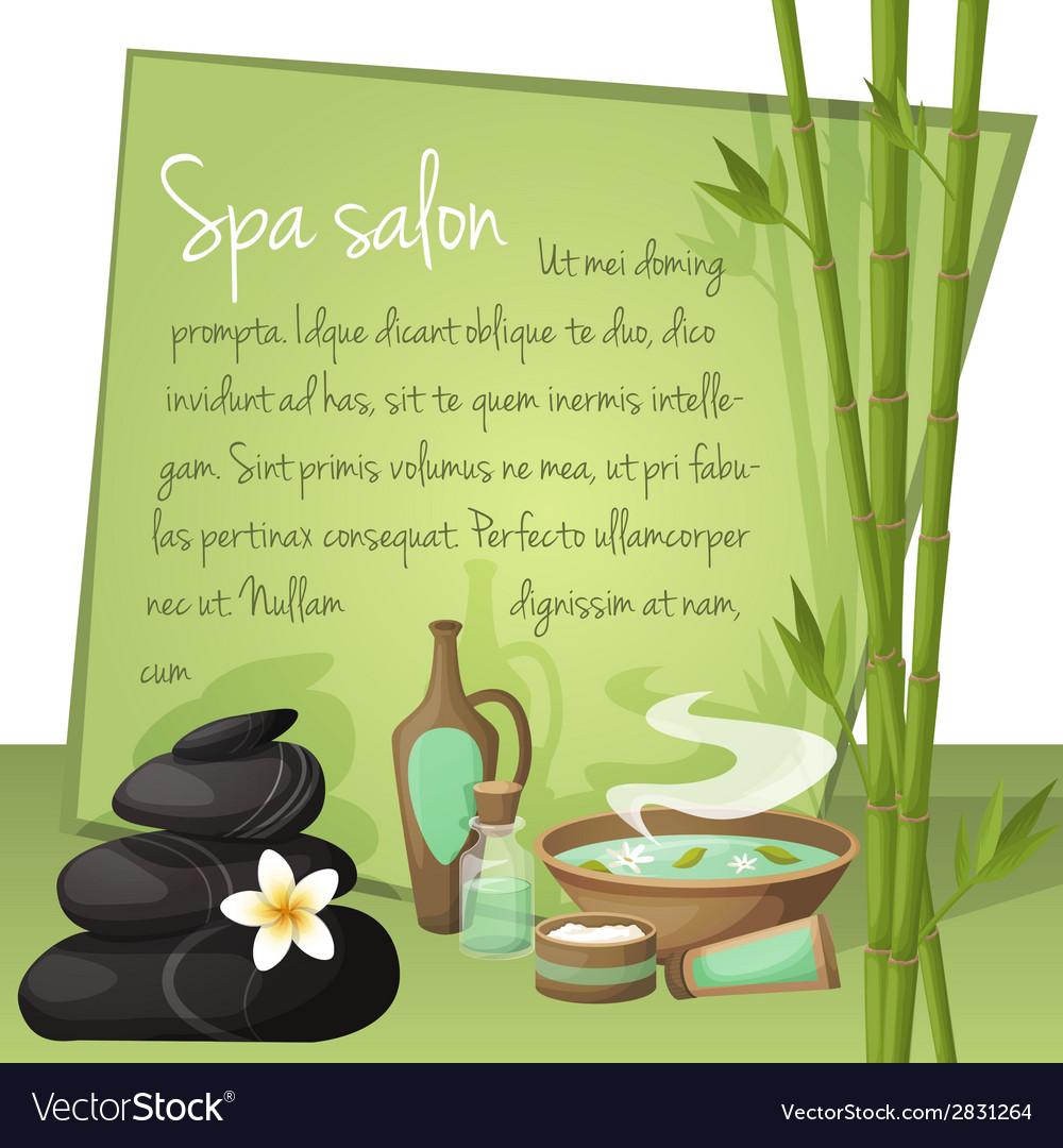 Spa salon background vector   Price: 1 Credit (USD $1)