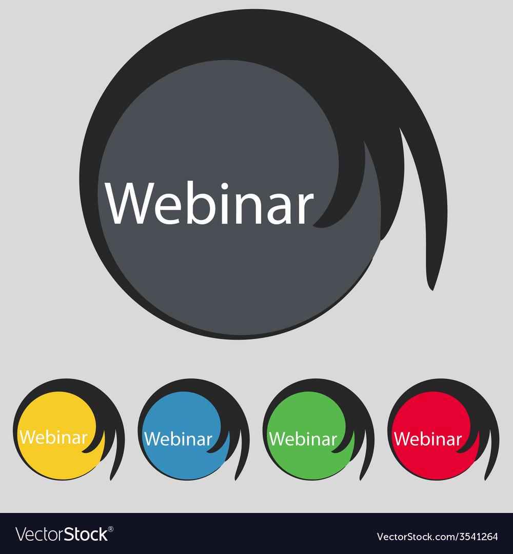 Webinar web camera sign icon online web-study vector | Price: 1 Credit (USD $1)
