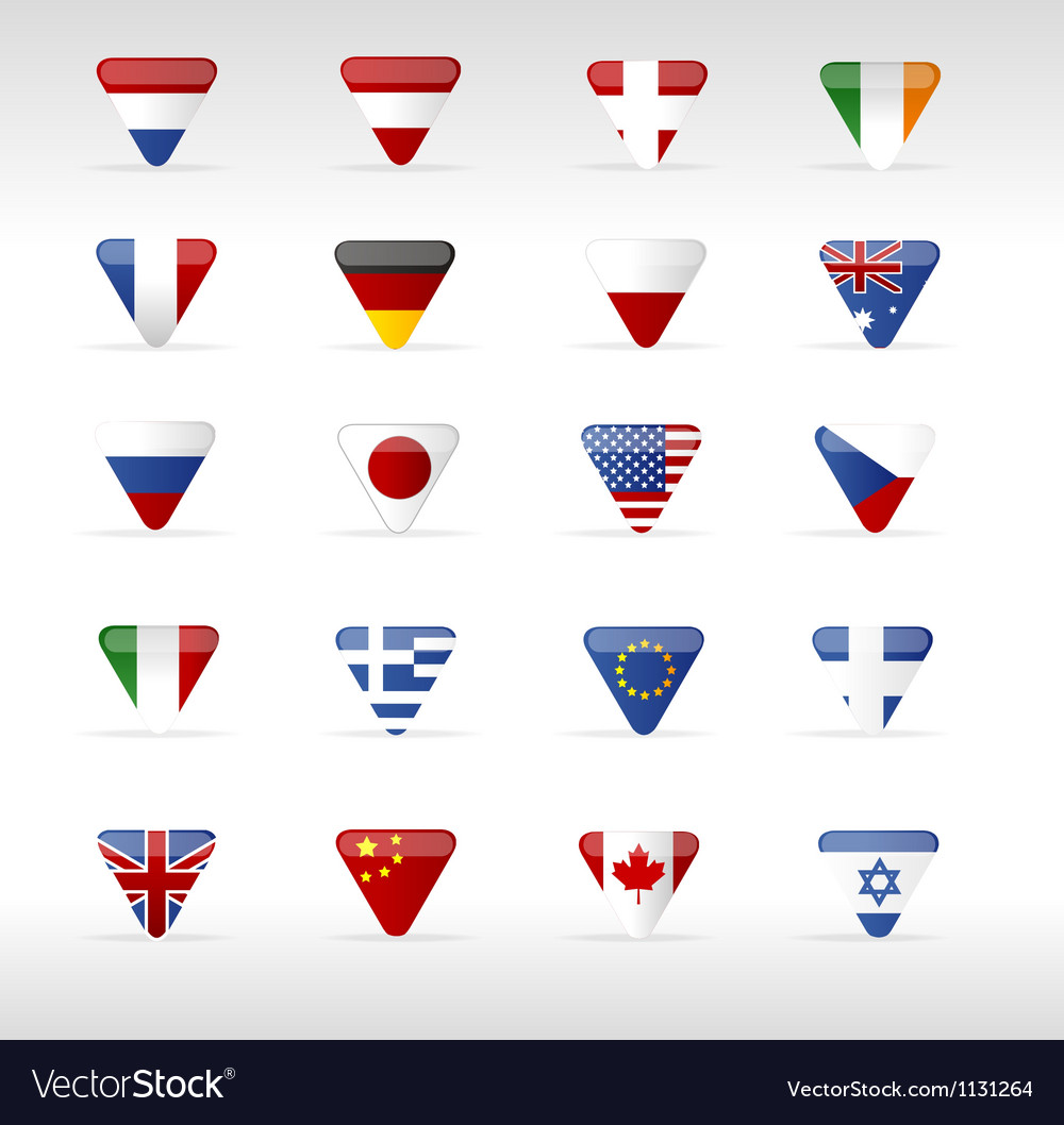 World flags triangle arrow vector | Price: 1 Credit (USD $1)