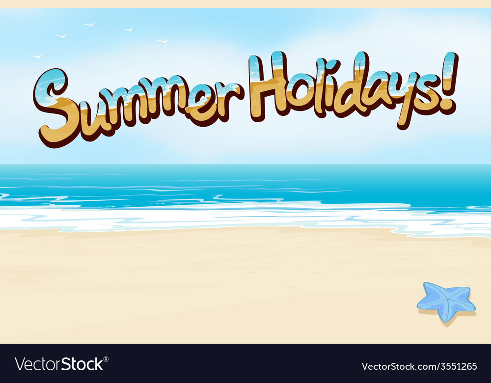 A summer holiday vector | Price: 1 Credit (USD $1)