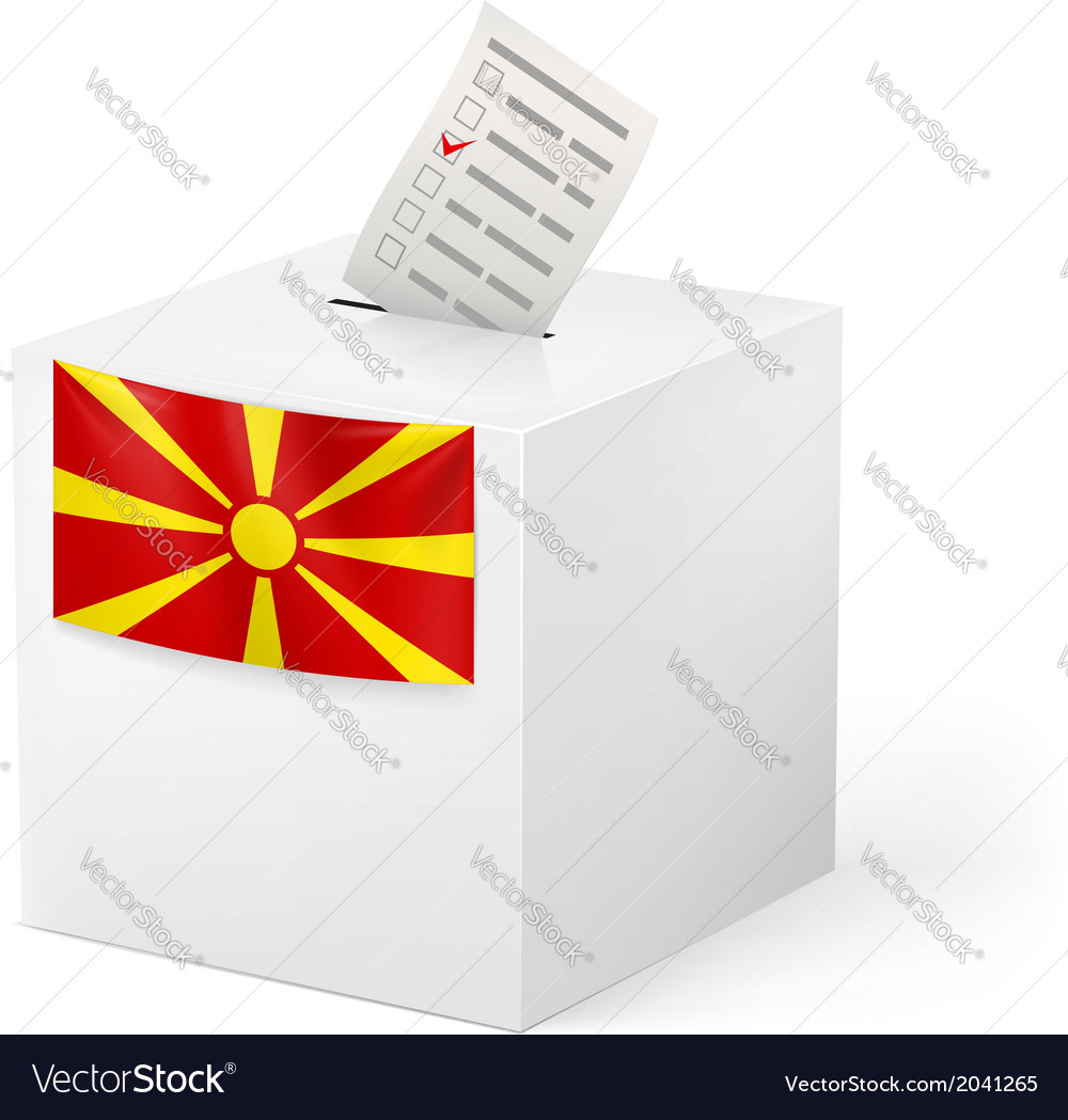 Ballot box with voicing paper macedonia vector | Price: 1 Credit (USD $1)