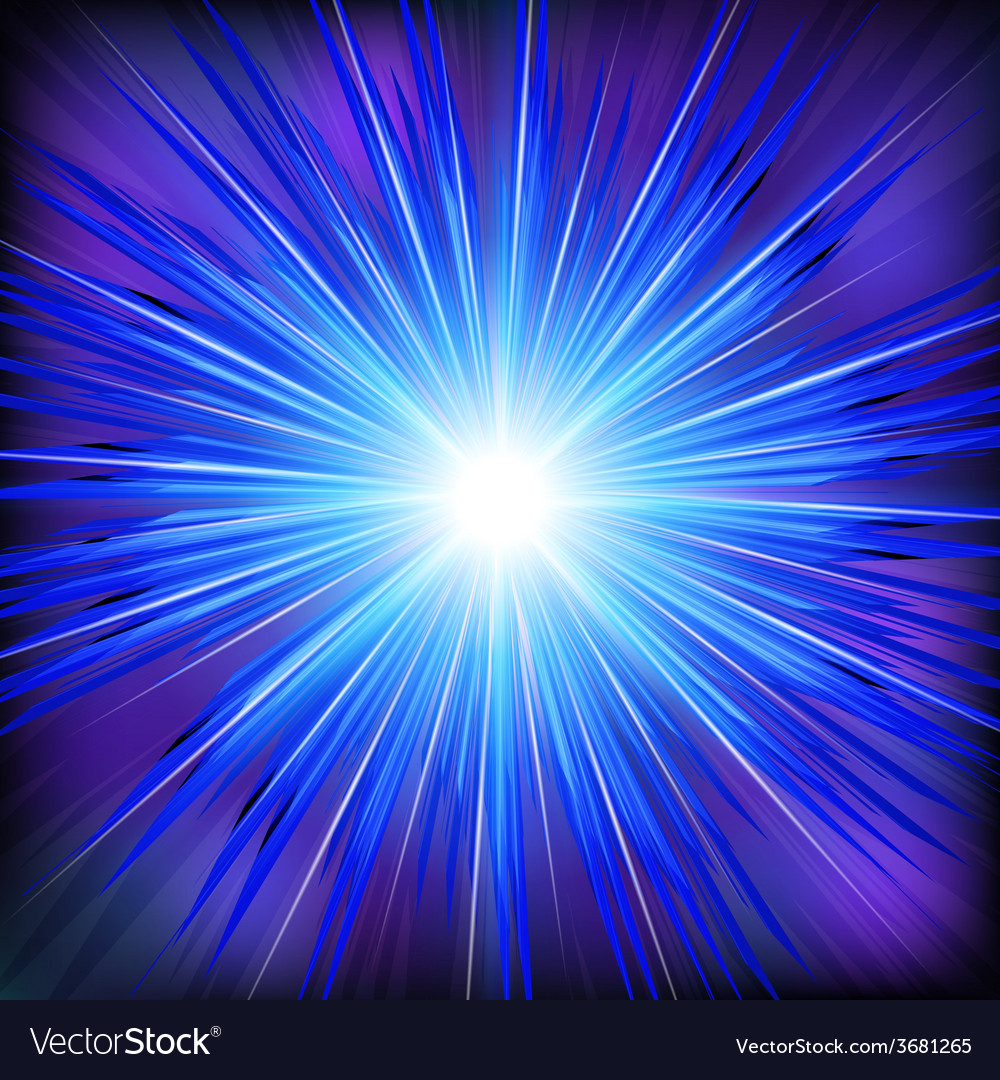 Blue light rays with star vector | Price: 1 Credit (USD $1)