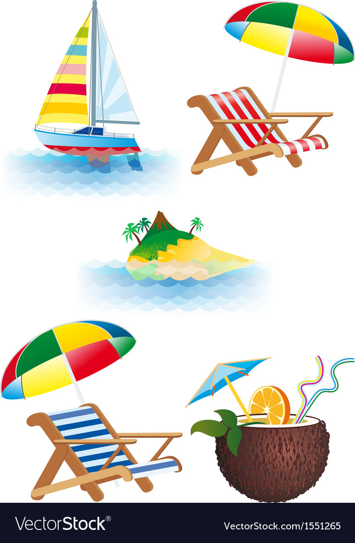 Bright recreation set vector | Price: 1 Credit (USD $1)