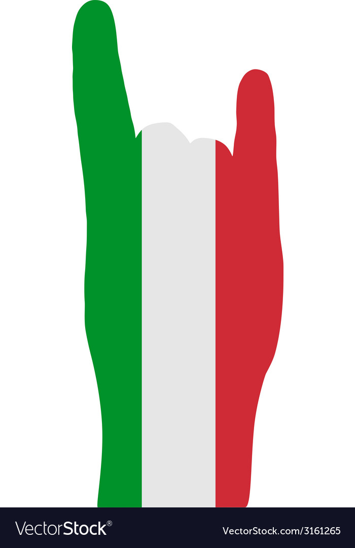 Italian finger signals vector | Price: 1 Credit (USD $1)