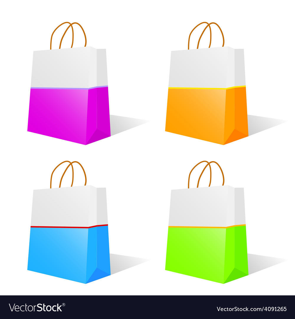 Paper bag in two color vector   Price: 1 Credit (USD $1)