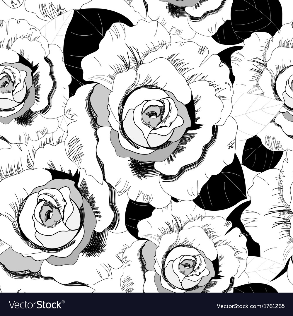 Pattern of roses vector | Price: 1 Credit (USD $1)