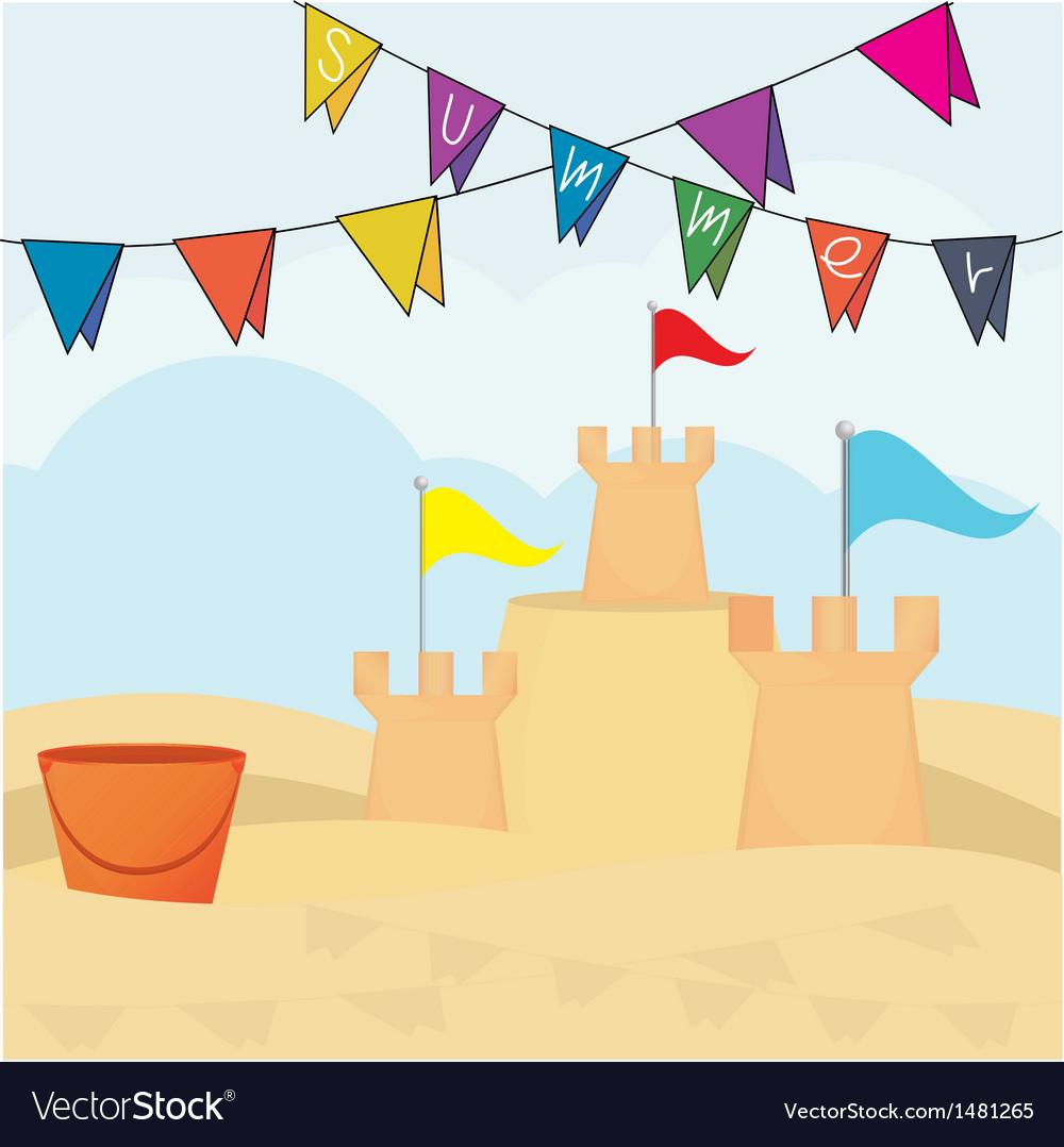 Sand castle vector | Price: 1 Credit (USD $1)