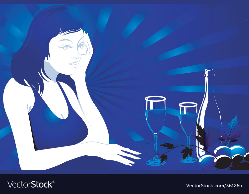 Seductive evening vector | Price: 1 Credit (USD $1)
