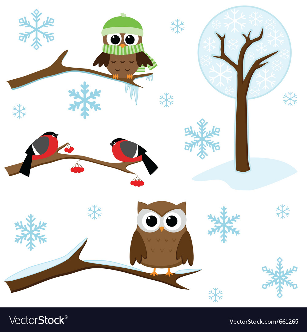 Set of winter elements vector | Price: 1 Credit (USD $1)