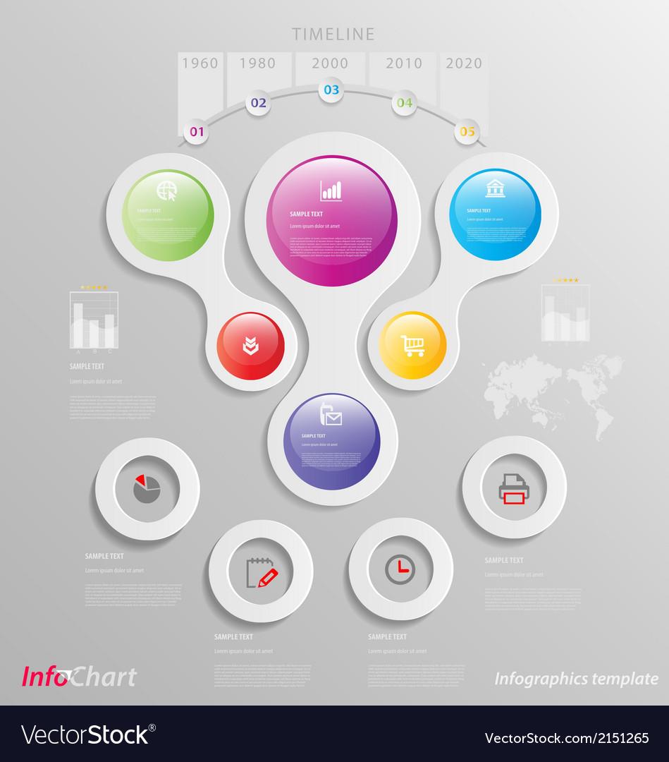 Stylized infographics presentationoption template vector | Price: 1 Credit (USD $1)