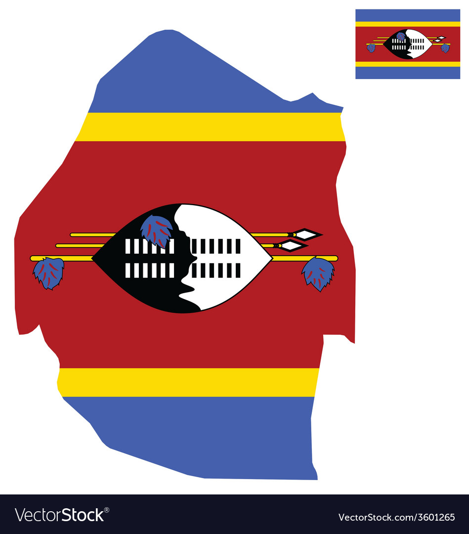 Swaziland flag vector | Price: 1 Credit (USD $1)