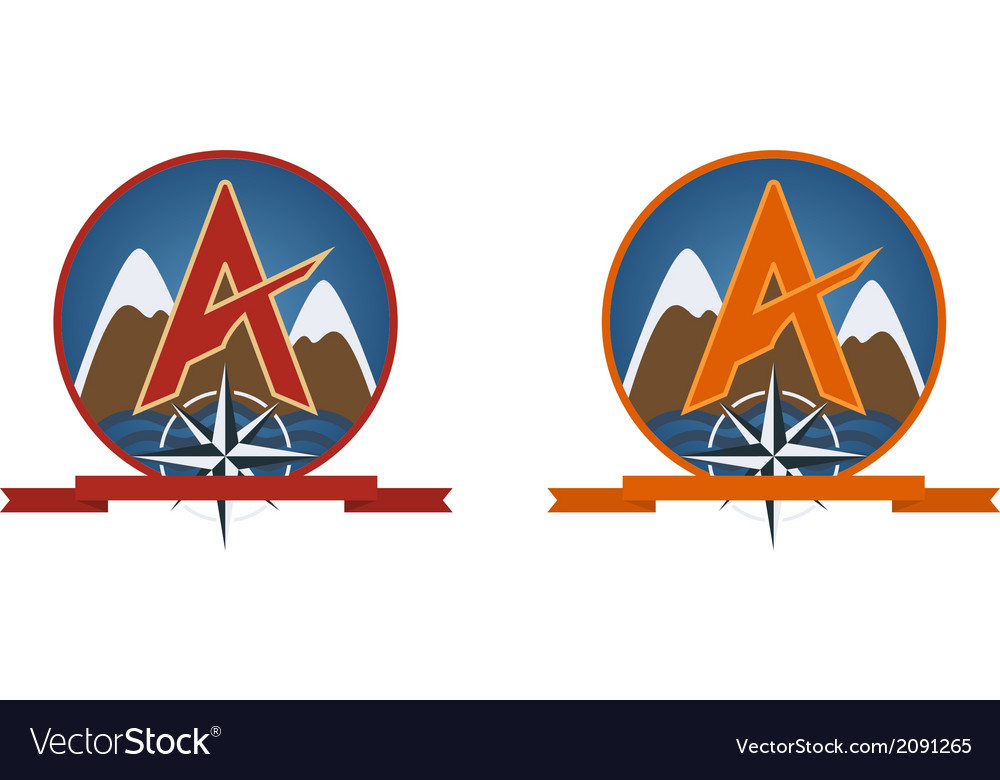 Travel emblem vector | Price: 1 Credit (USD $1)