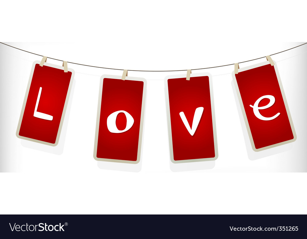 Valentine labels vector | Price: 1 Credit (USD $1)