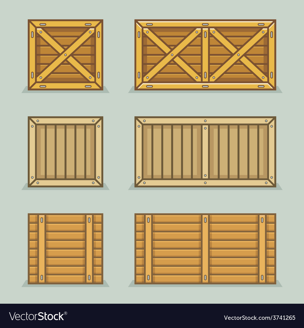 Wooden boxes vector | Price: 1 Credit (USD $1)