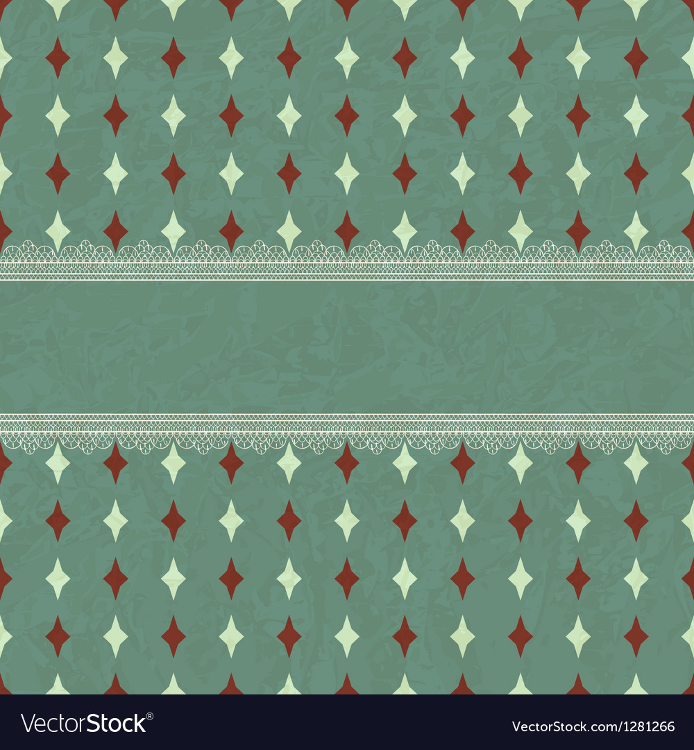 Card with seamless geaometric pattern vector | Price: 1 Credit (USD $1)