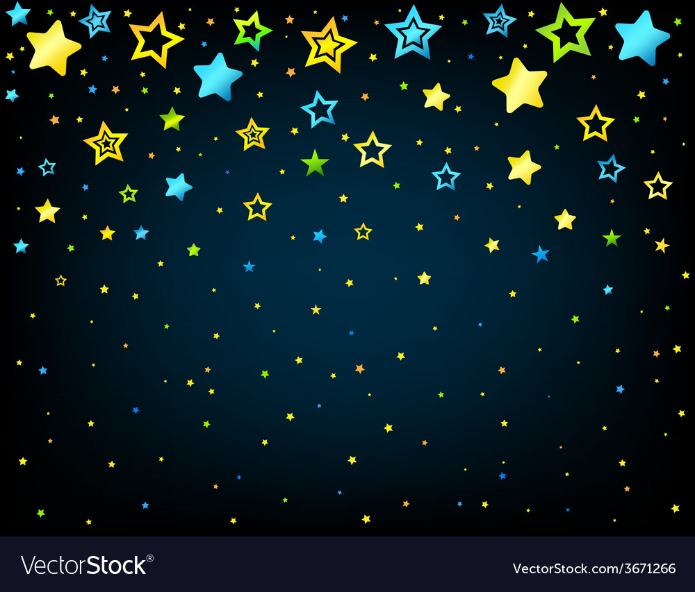 Cartoon star colored background vector   Price: 1 Credit (USD $1)