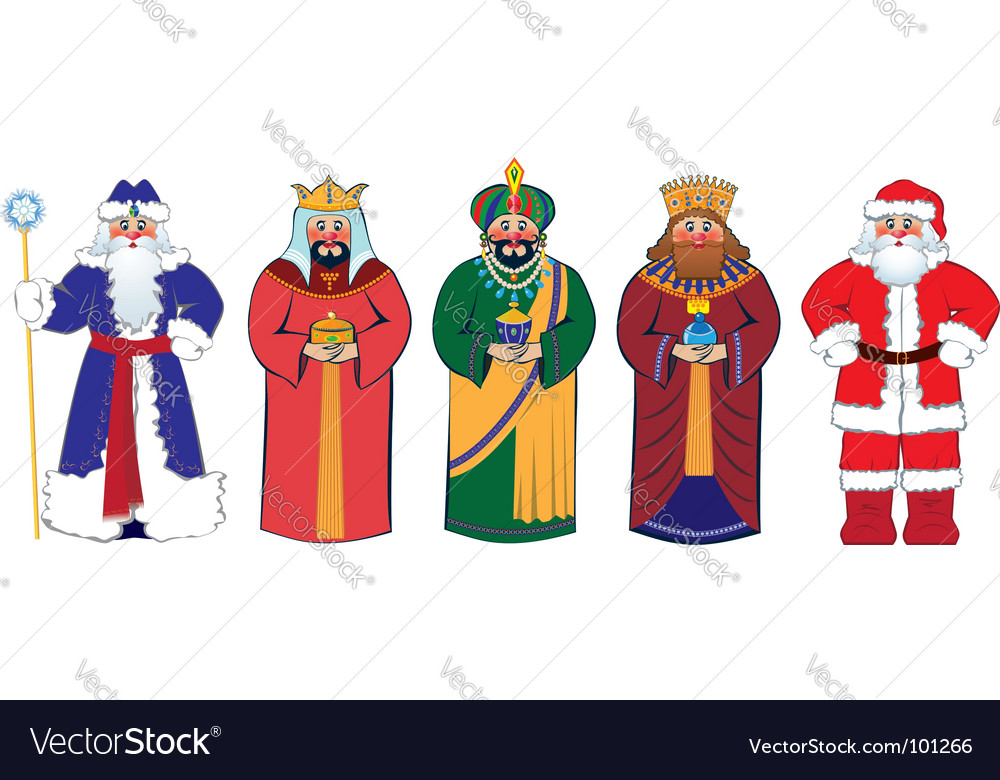 Christmas characters vector | Price: 1 Credit (USD $1)
