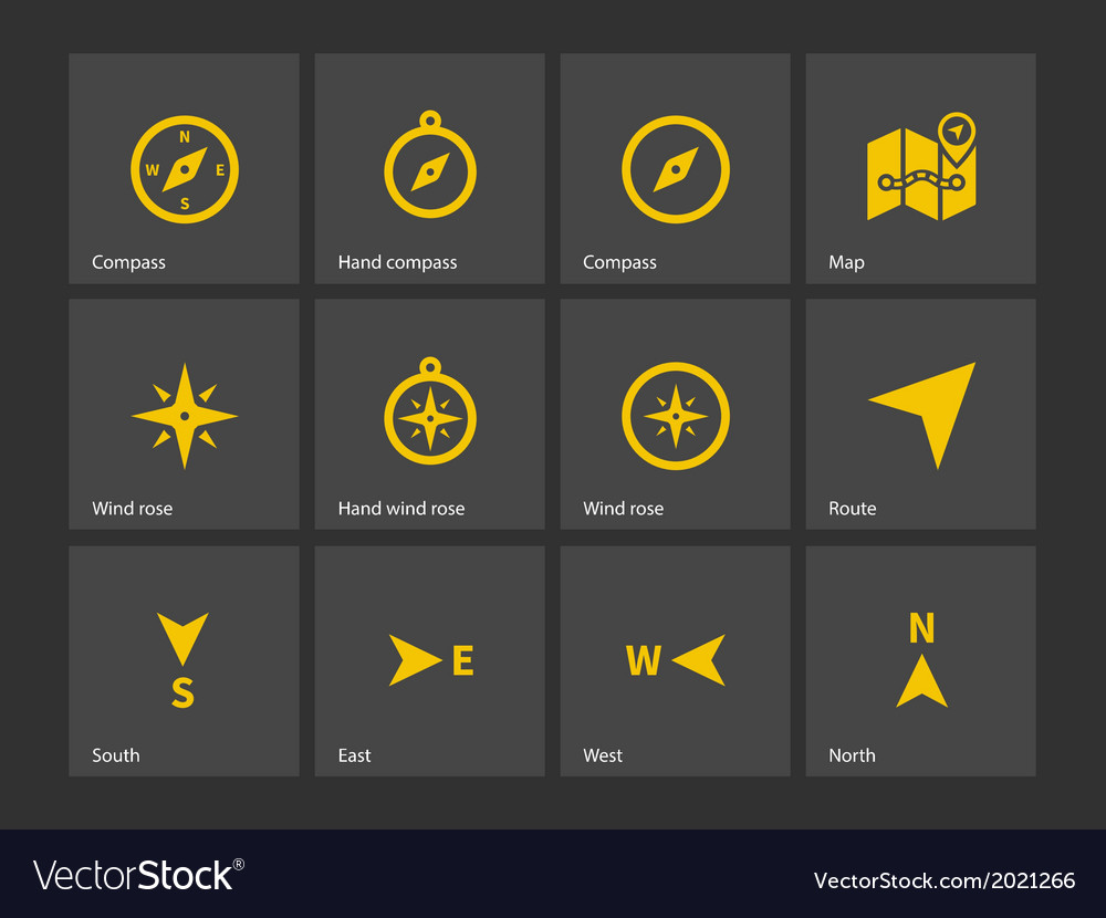 Compass icons vector | Price: 1 Credit (USD $1)