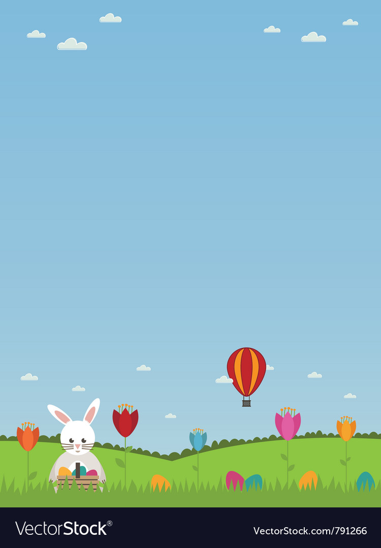 Easter landscape vector | Price: 1 Credit (USD $1)