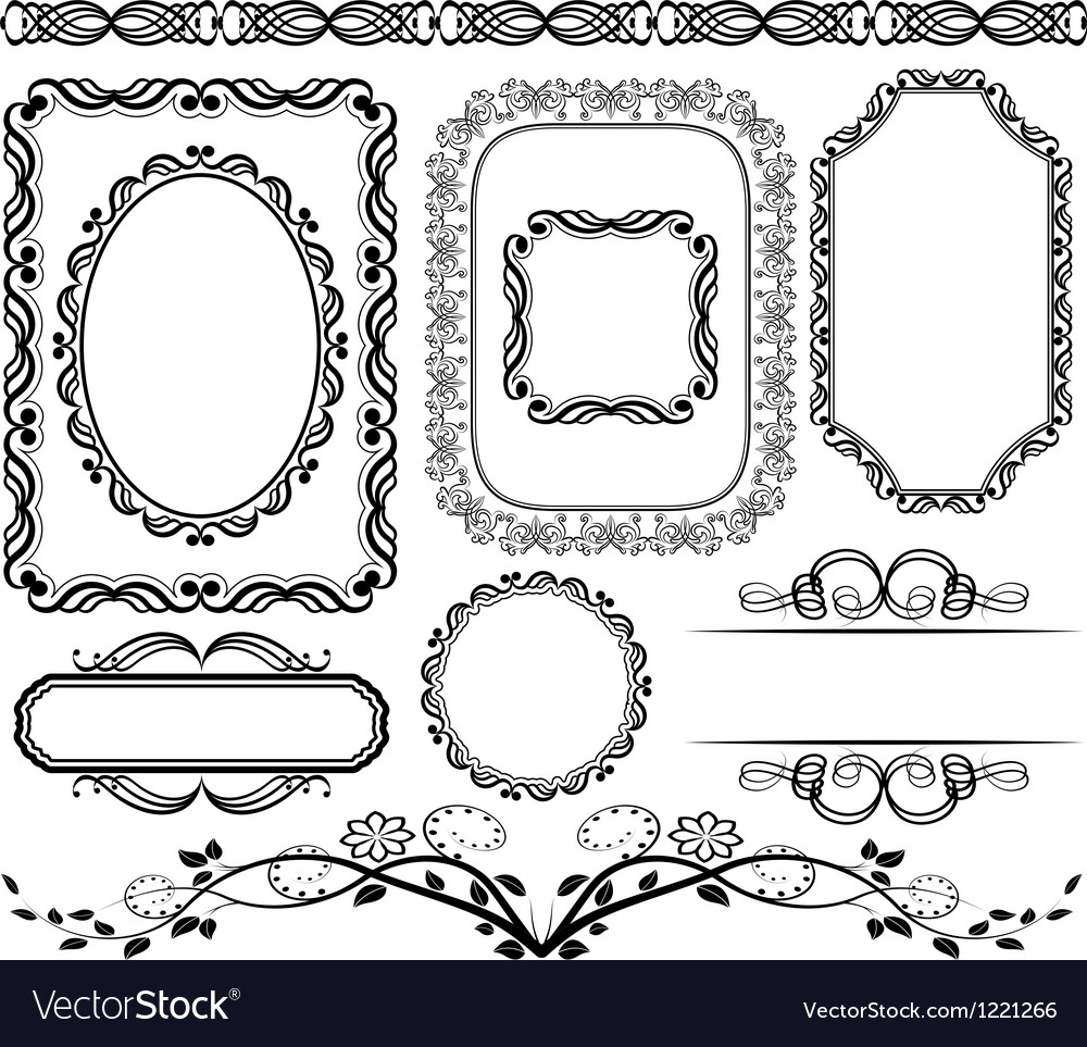 Frames and borders vector | Price: 1 Credit (USD $1)
