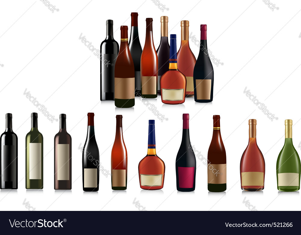 Super group of bottles vector | Price: 3 Credit (USD $3)