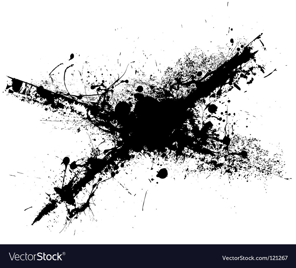 Cross grunge splat vector | Price: 1 Credit (USD $1)