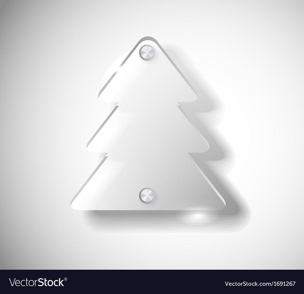 Glass christmas tree vector | Price: 1 Credit (USD $1)