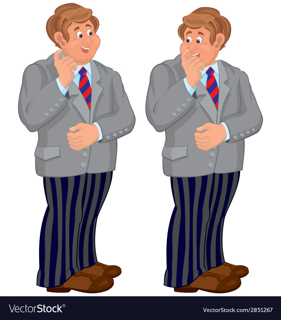 Happy cartoon man standing in striped pants vector | Price: 1 Credit (USD $1)