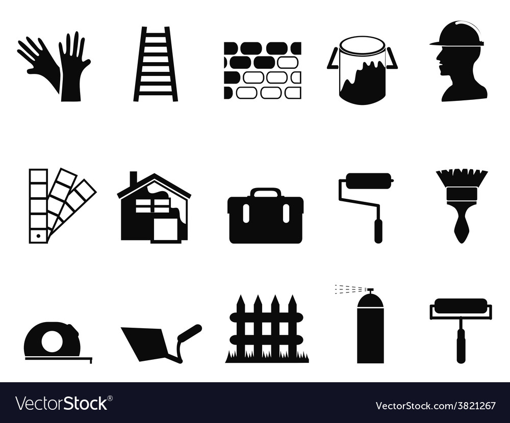 House painting icons set vector | Price: 1 Credit (USD $1)