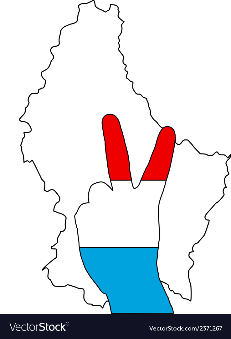 Luxembourg hand signal vector | Price: 1 Credit (USD $1)