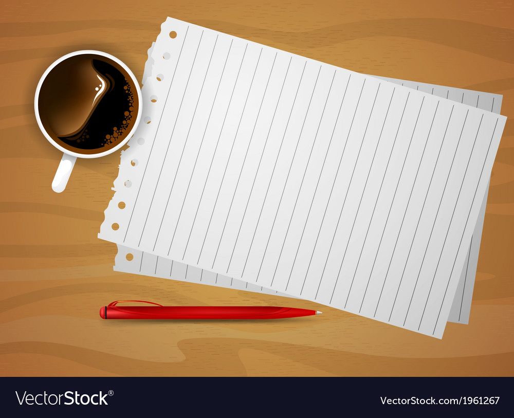 Notepaper vector | Price: 1 Credit (USD $1)
