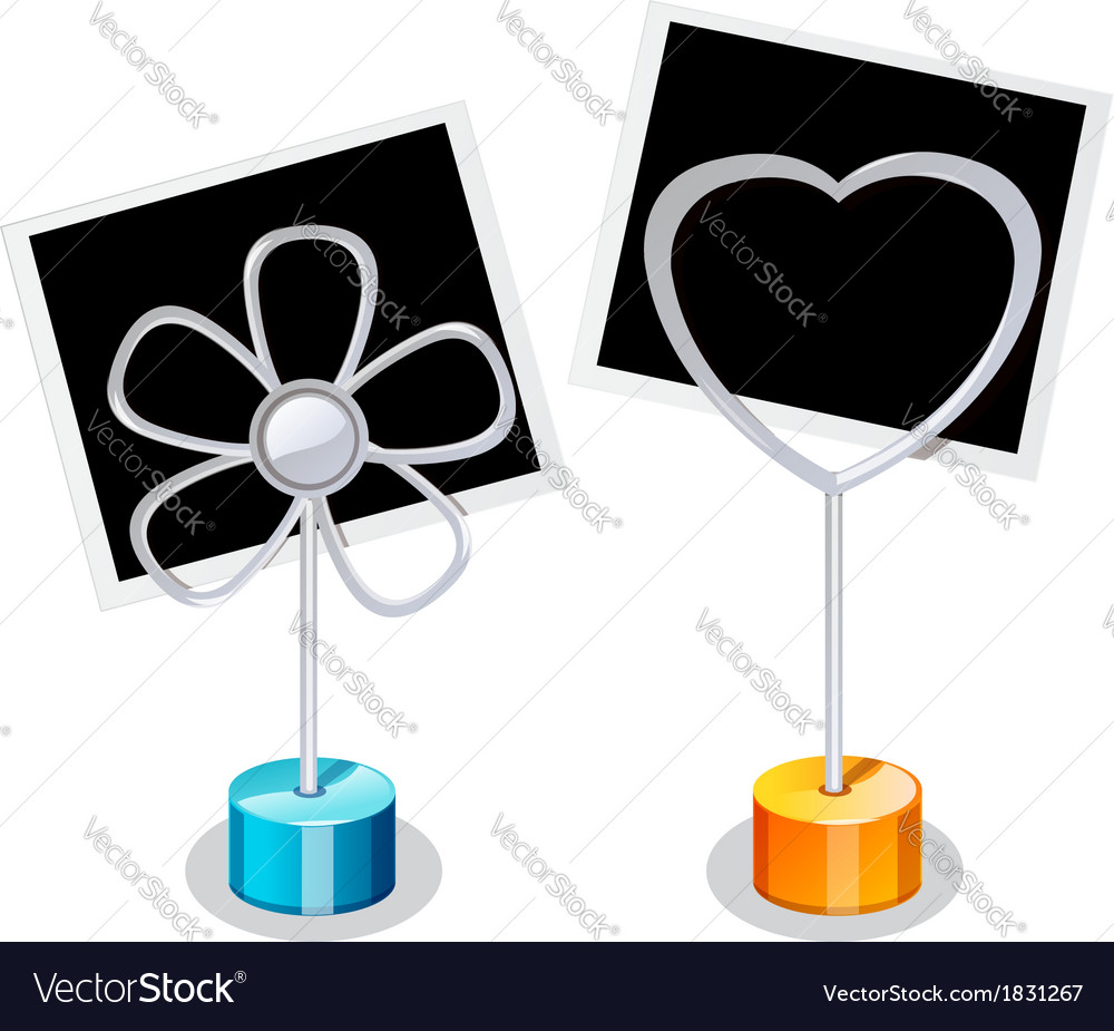 Photo holder with two photos vector | Price: 1 Credit (USD $1)