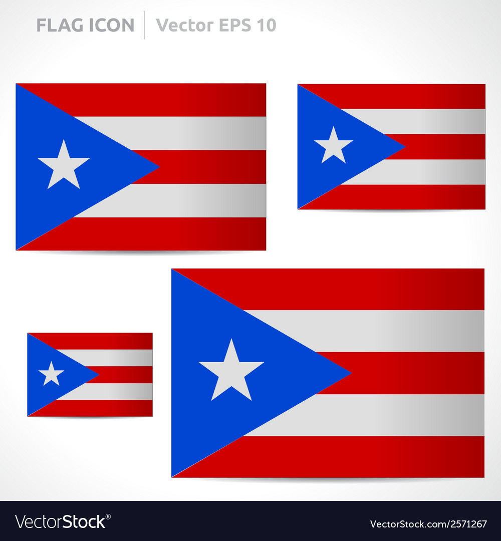 Puerto rico flag template vector | Price: 1 Credit (USD $1)