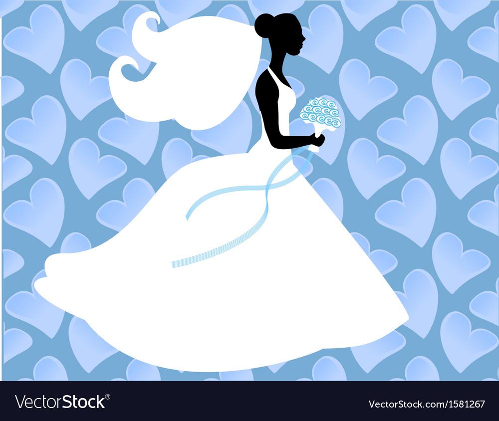 Silhouette bride vector | Price: 1 Credit (USD $1)