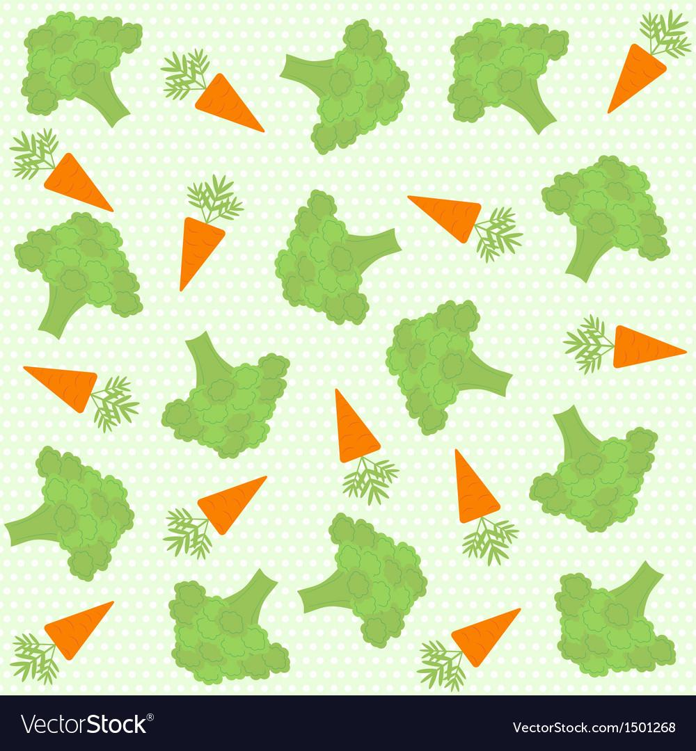 Background with broccoli and carrot vector | Price: 1 Credit (USD $1)
