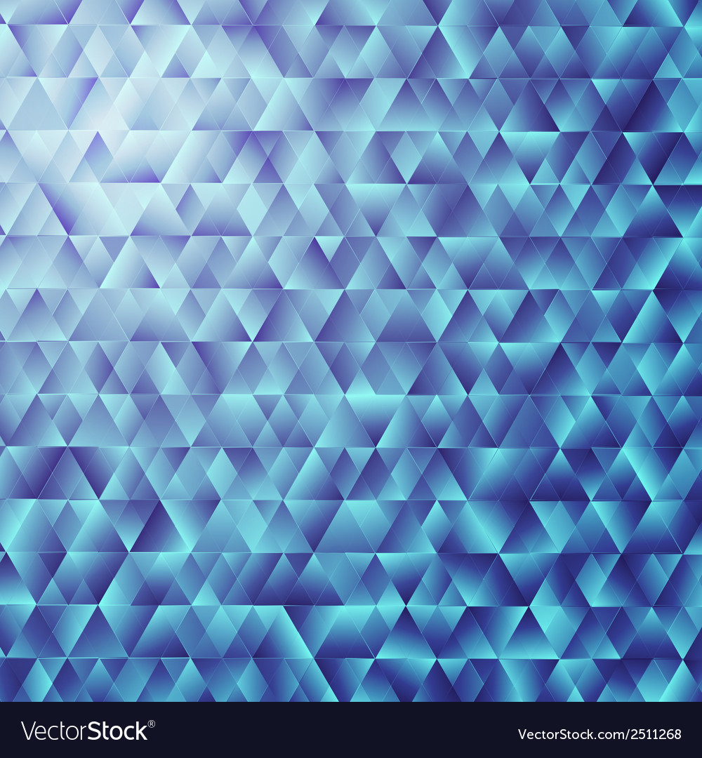Blue triangular background colorful mosaic vector | Price: 1 Credit (USD $1)