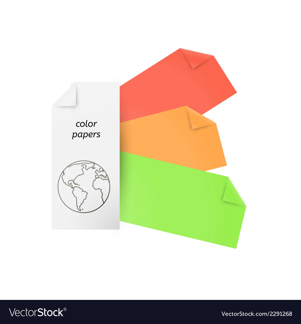 Color papers vector | Price: 1 Credit (USD $1)