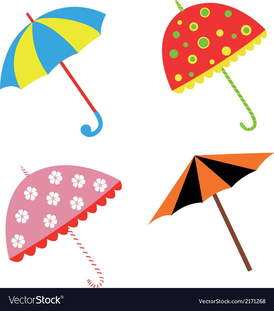 Colorful with umbrellas vector | Price: 1 Credit (USD $1)