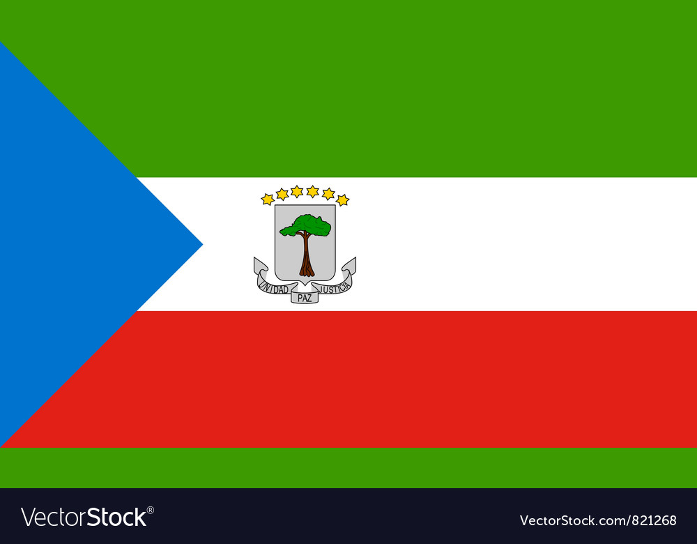 Equatorial guinea flag vector | Price: 1 Credit (USD $1)